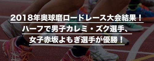 2018年奥球磨ロードレース大会結...
